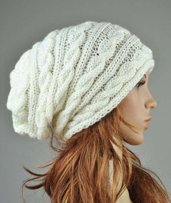 Tuque blanche en tricot