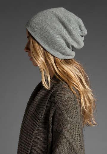 Tuque grise pour femme